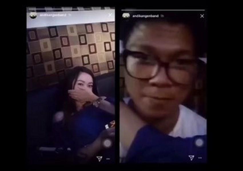 Heboh video Andhika Kangen Band bersama wanita cantik, gandengan baru babang tamvan